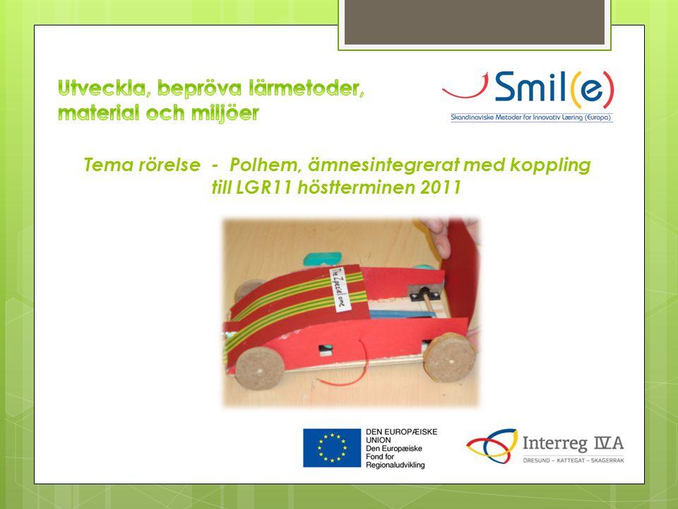 Tema rörelse - Polhem, ämnesintegrerat med koppling till LGR11 höstterminen 2011