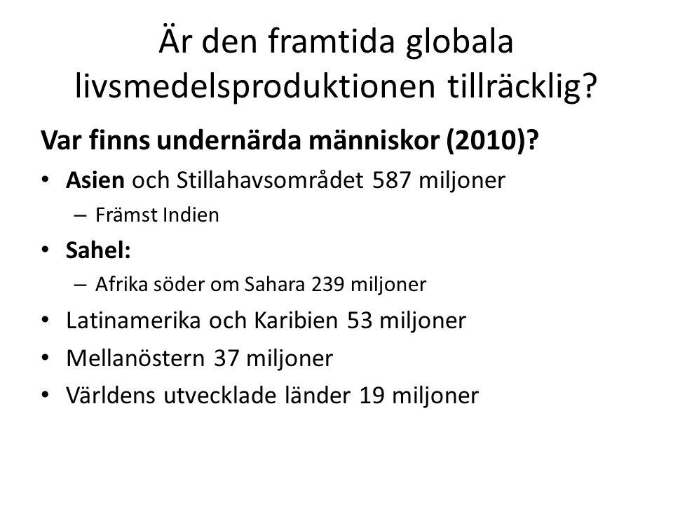 Är den framtida globala livsmedelsproduktionen tillräcklig.