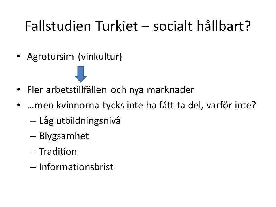 Fallstudien Turkiet – socialt hållbart.