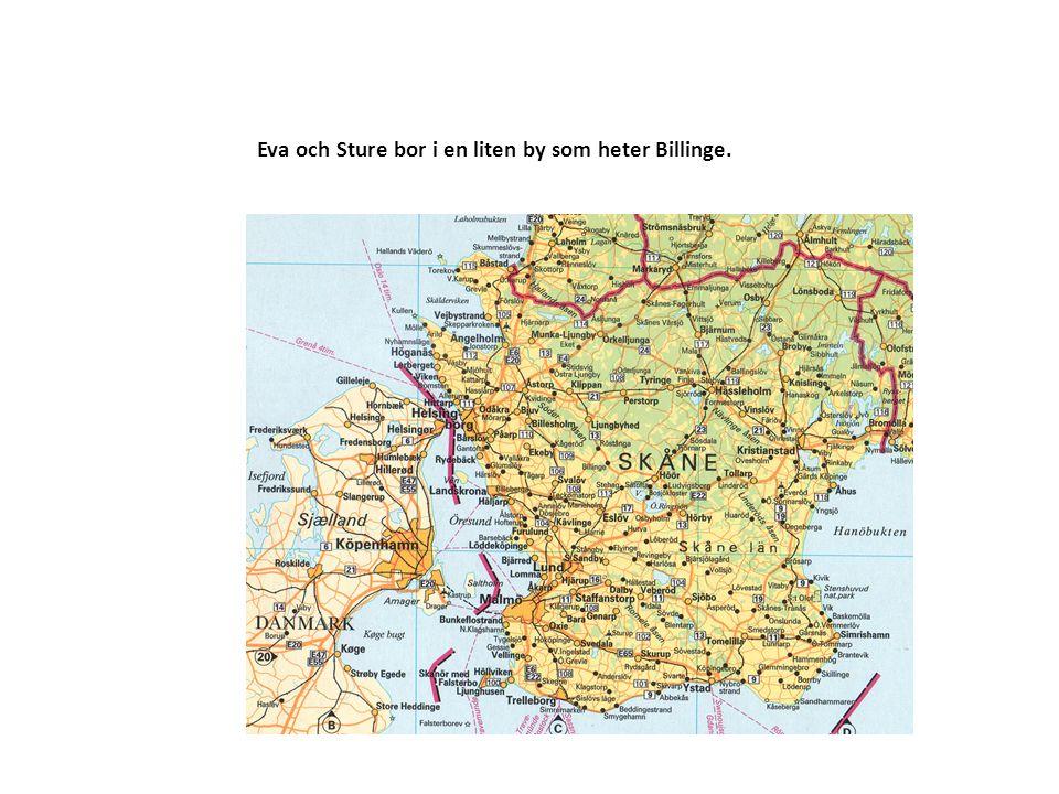 Eva och Sture bor i en liten by som heter Billinge.