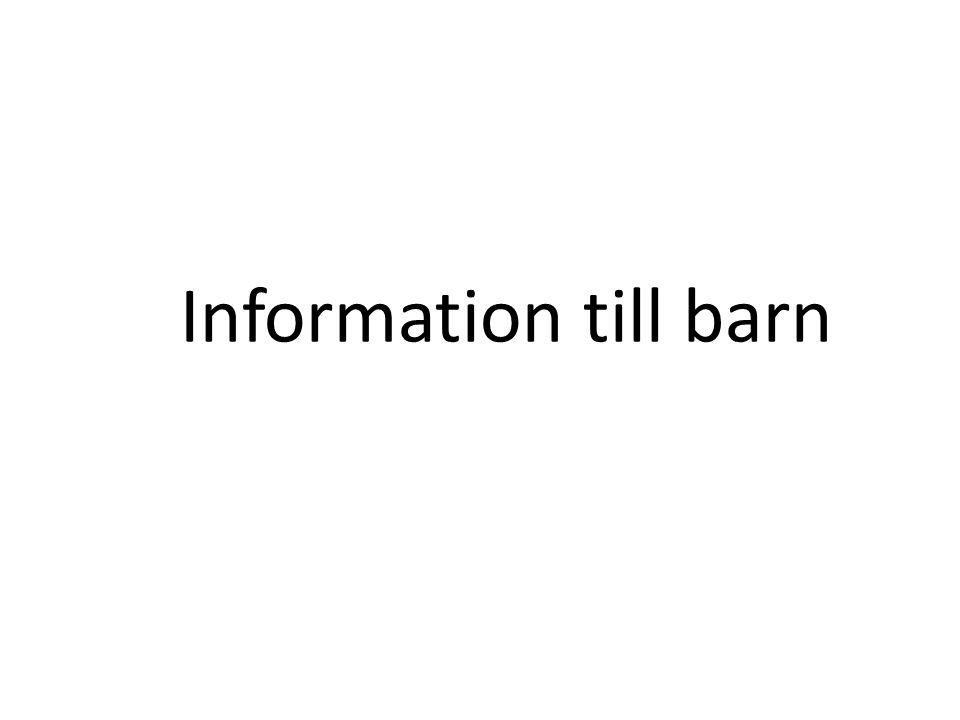 Information till barn