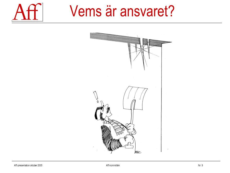 Aff-presentation oktober 2005 Aff-kommitténNr: 9 Vems är ansvaret?