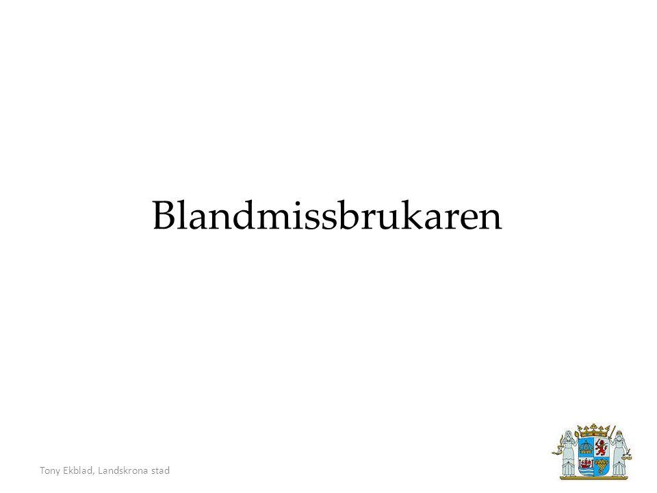 Tony Ekblad, Landskrona stad Blandmissbrukaren