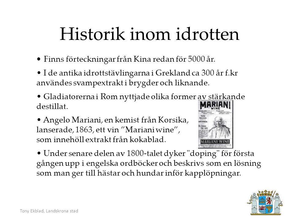 Tony Ekblad, Landskrona stad Esteten Stephen (Steve) L. Reeves 1926 Mr. Universum 1950.