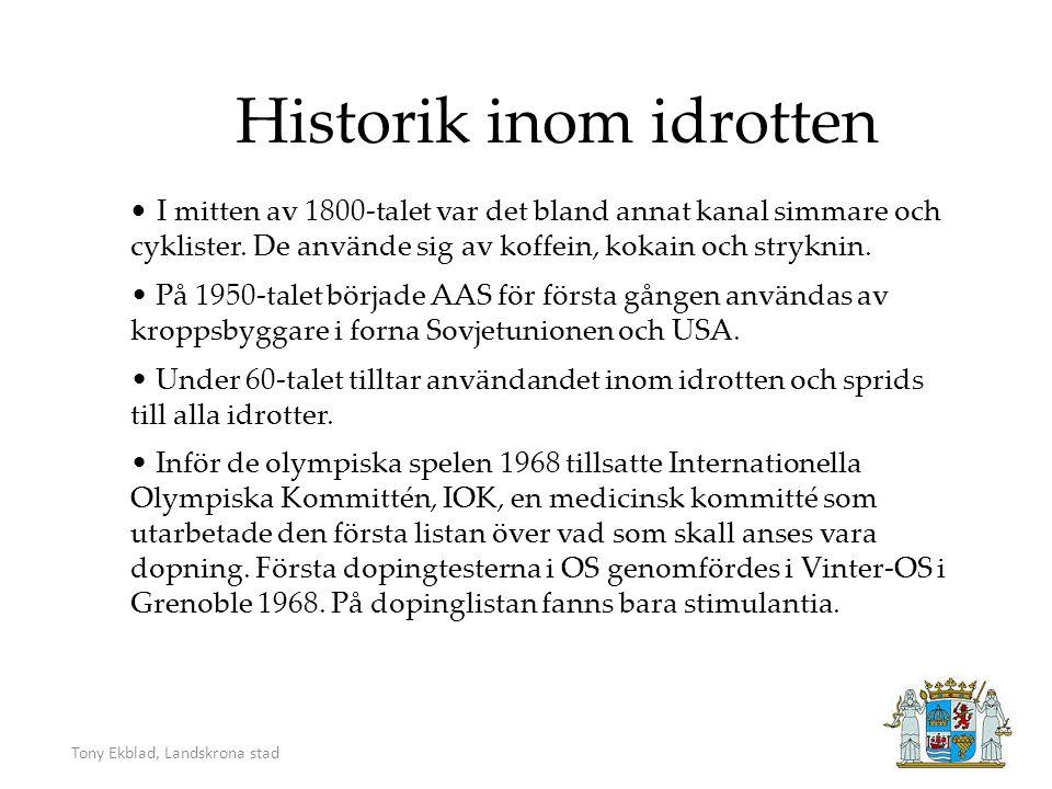 1973 startades en informell Dopinggrupp, som 1975 ombildades till Dopingkommittén.