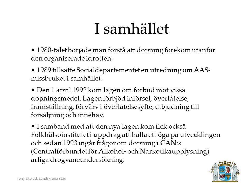 Tony Ekblad, Landskrona stad Hur utbrett är detta idag.