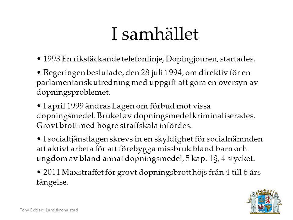 Tony Ekblad, Landskrona stad Vem dopar sig.Och Varför.