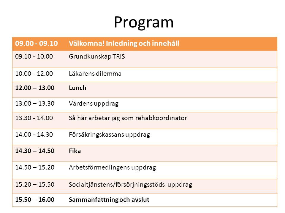 Program 09.00 - 09.10Välkomna.