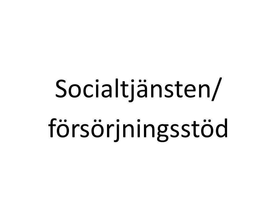 Socialtjänsten/ försörjningsstöd