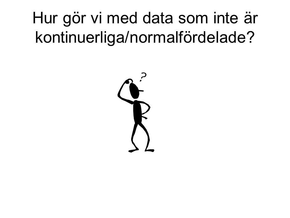 Hur gör vi med data som inte är kontinuerliga/normalfördelade