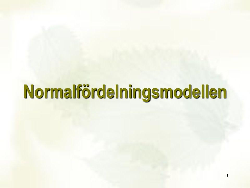 1 Normalfördelningsmodellen