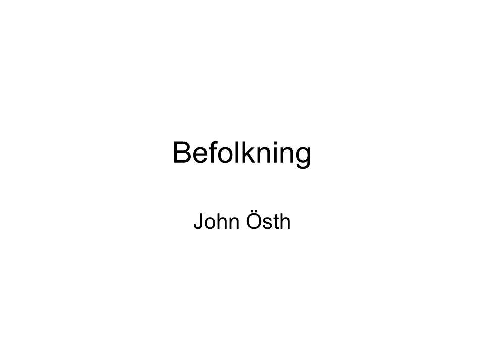 Befolkning John Östh