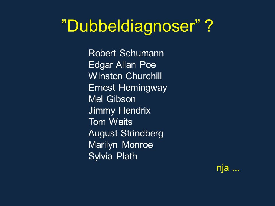 Dubbeldiagnoser .