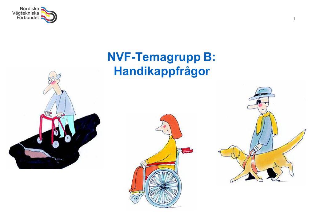 1 NVF-Temagrupp B: Handikappfrågor