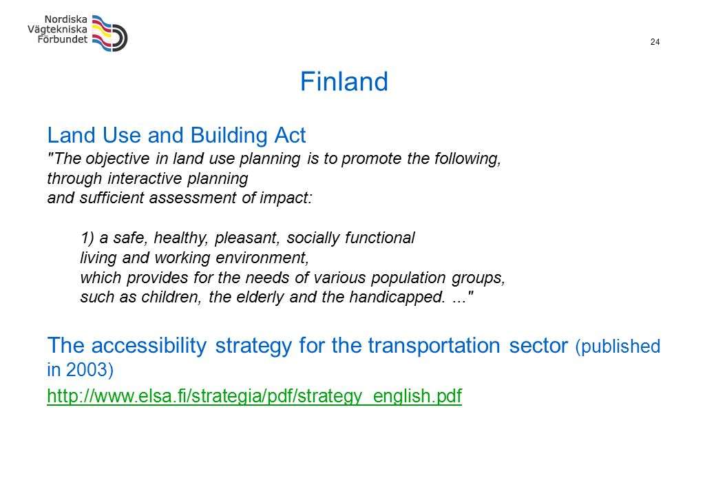 24 Finland Land Use and Building Act