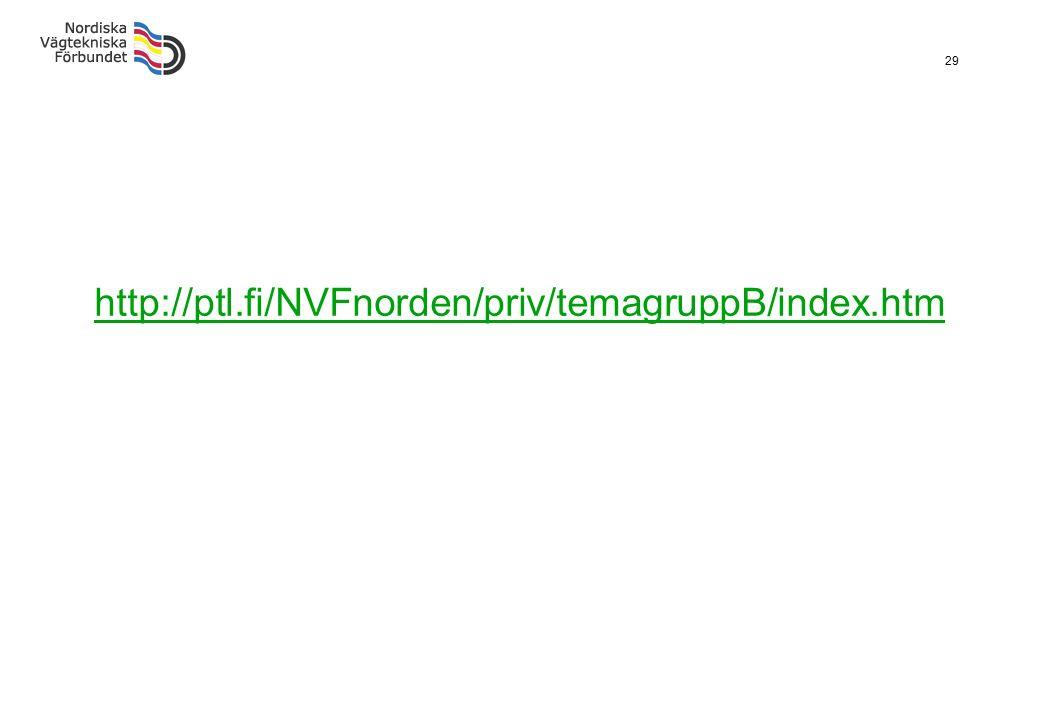 29 http://ptl.fi/NVFnorden/priv/temagruppB/index.htm