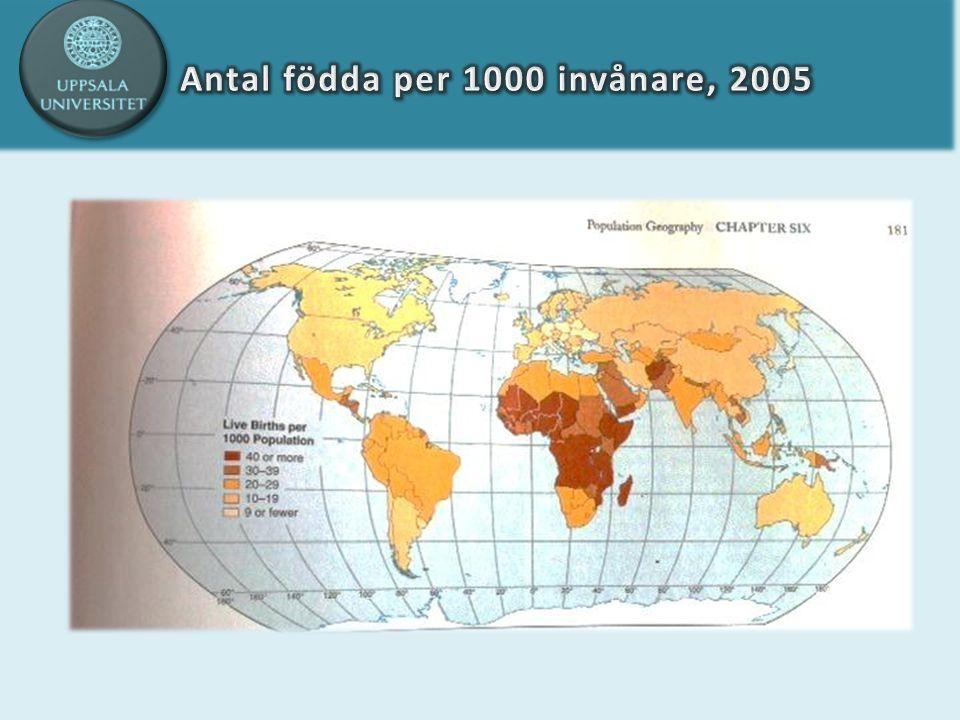 Stadie 5: låg nativitet, ökad mortalitet befolkningsminskning