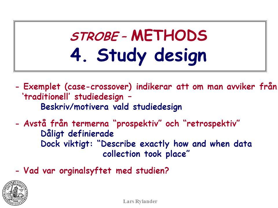 STROBE – METHODS 4.