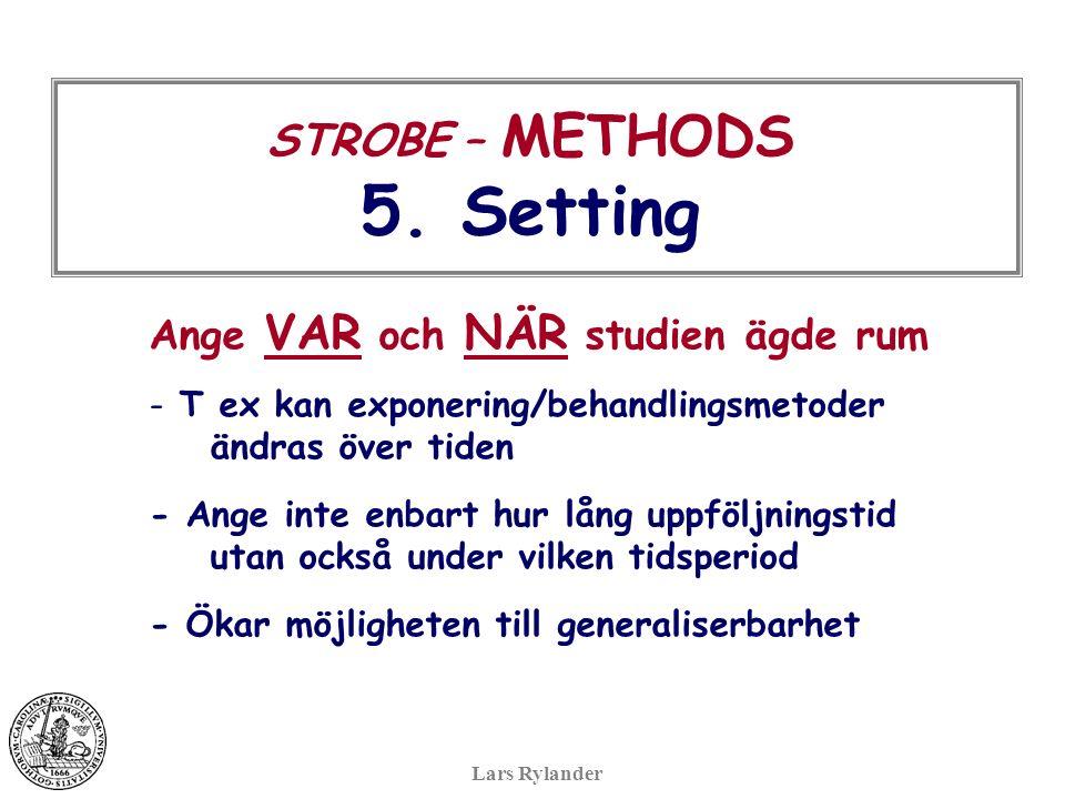 STROBE – METHODS 5.