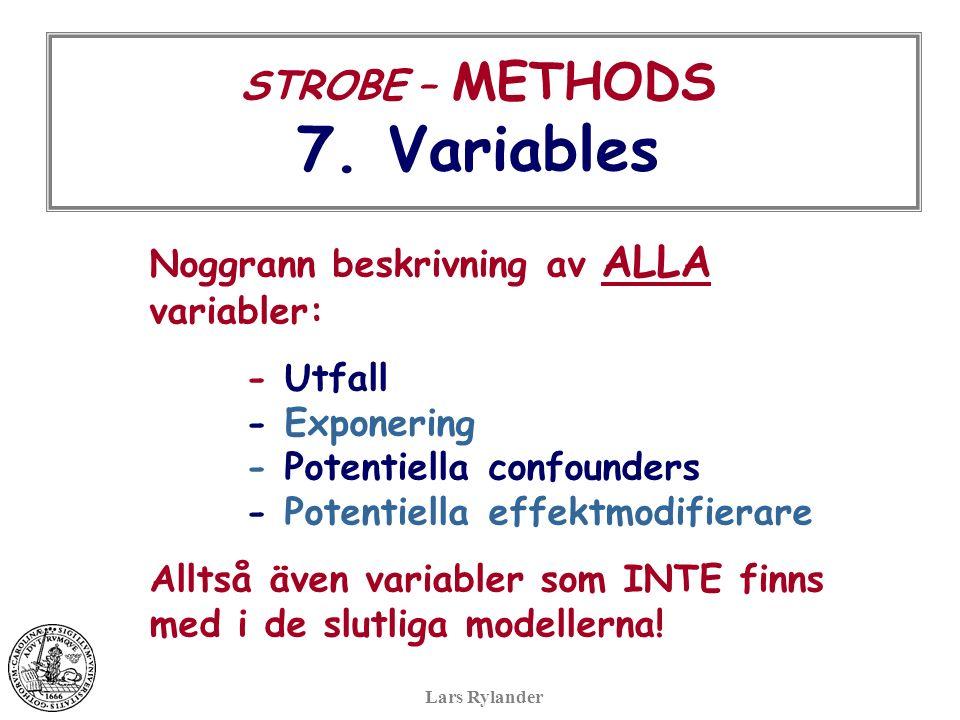 STROBE – METHODS 7.