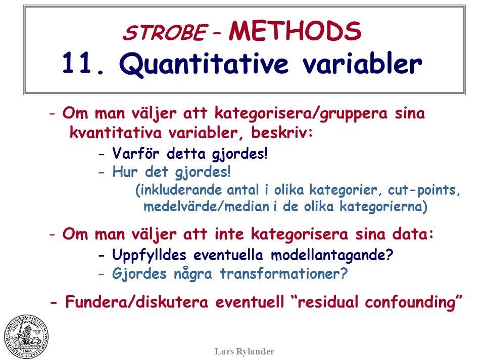 STROBE – METHODS 11.