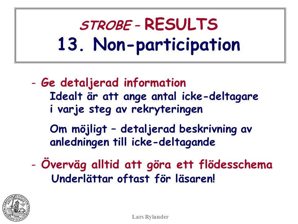 STROBE – RESULTS 13.