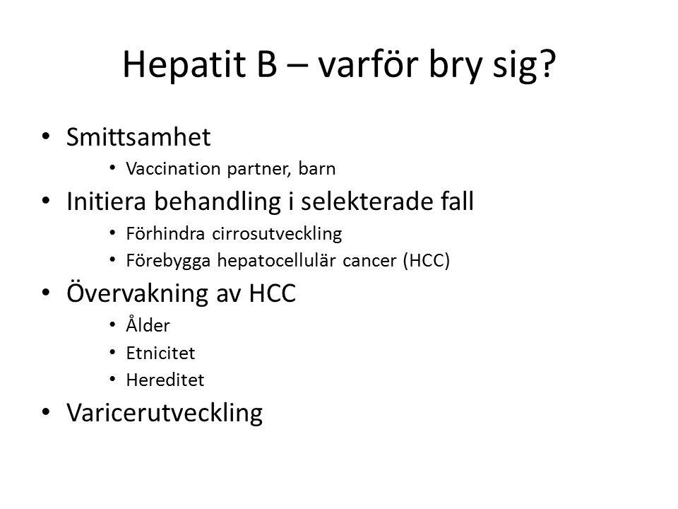Hepatit B – varför bry sig.