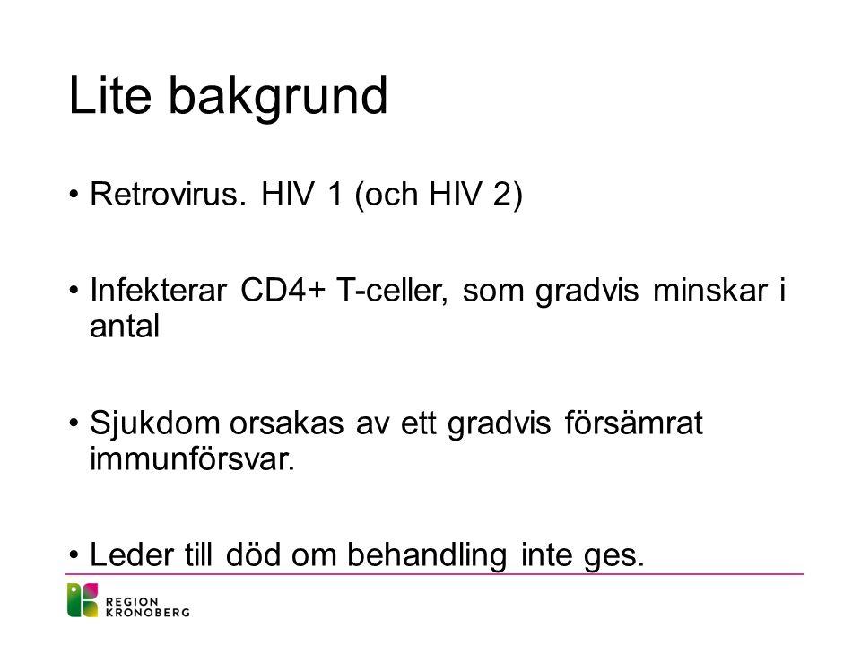 Disposition Epidemiologi Smittsamhet HIV-test Behandling Prognos