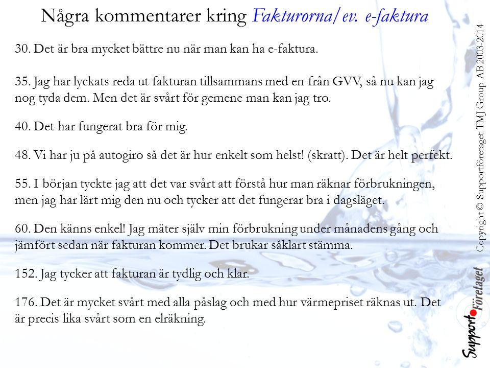 Copyright © Supportföretaget TMJ Group AB 2003-2014 Några kommentarer kring Fakturorna/ev.