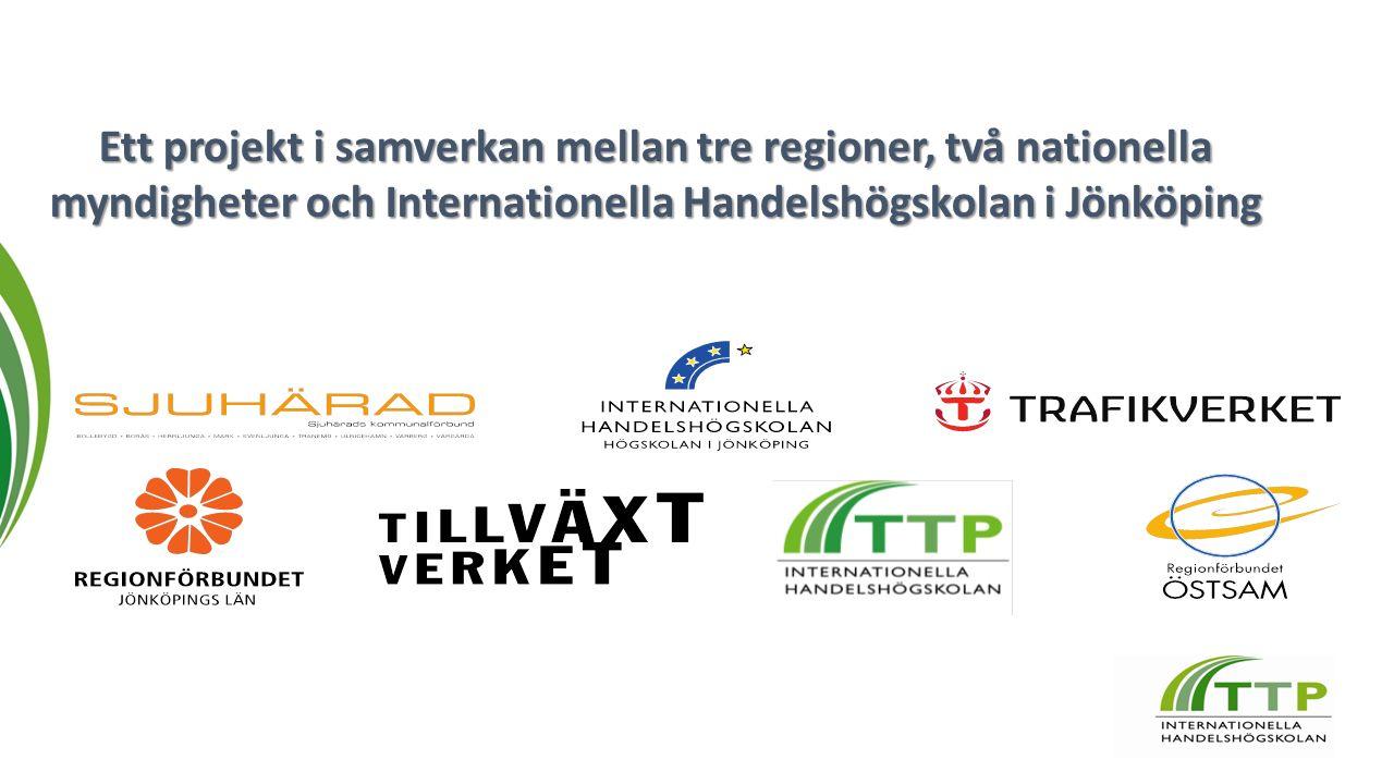 Ett projekt i samverkan mellan tre regioner, två nationella myndigheter och Internationella Handelshögskolan i Jönköping