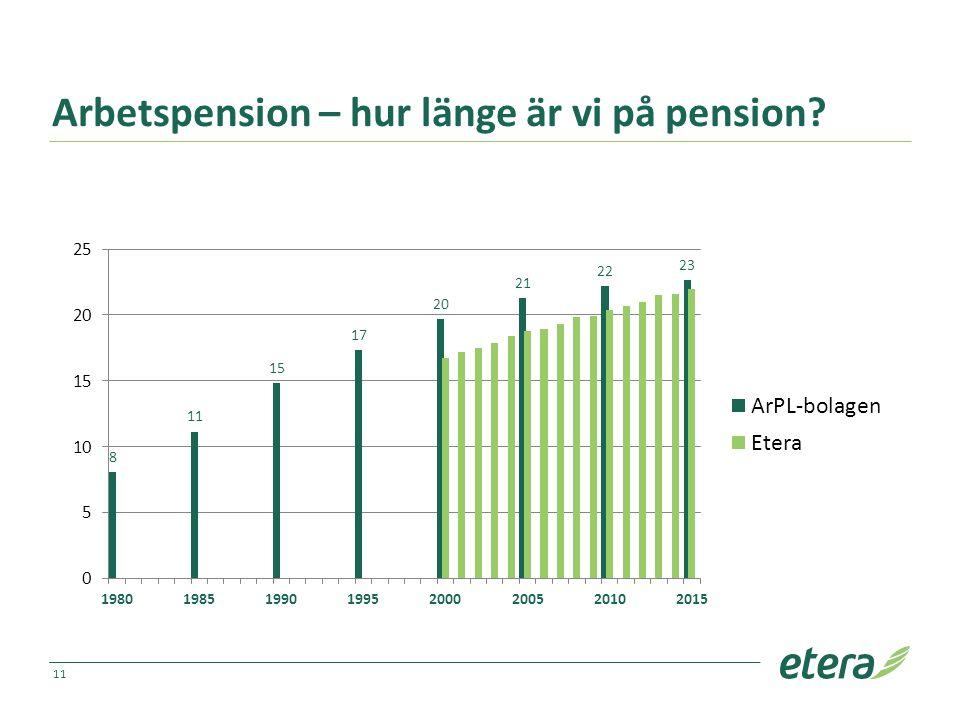 Arbetspension – hur länge är vi på pension 11