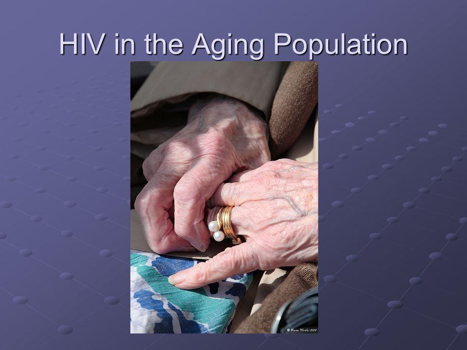 Åldrande HIV-population… 5-faldig ökning av HIV-positiva patienter >50 år mellan 1990 & 2000 11% >50 år Med åren: CD4-lymfopeni & CD4 återhämtar sig långsammare.