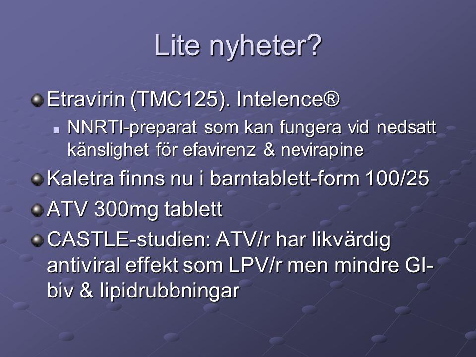 Lite nyheter. Etravirin (TMC125).