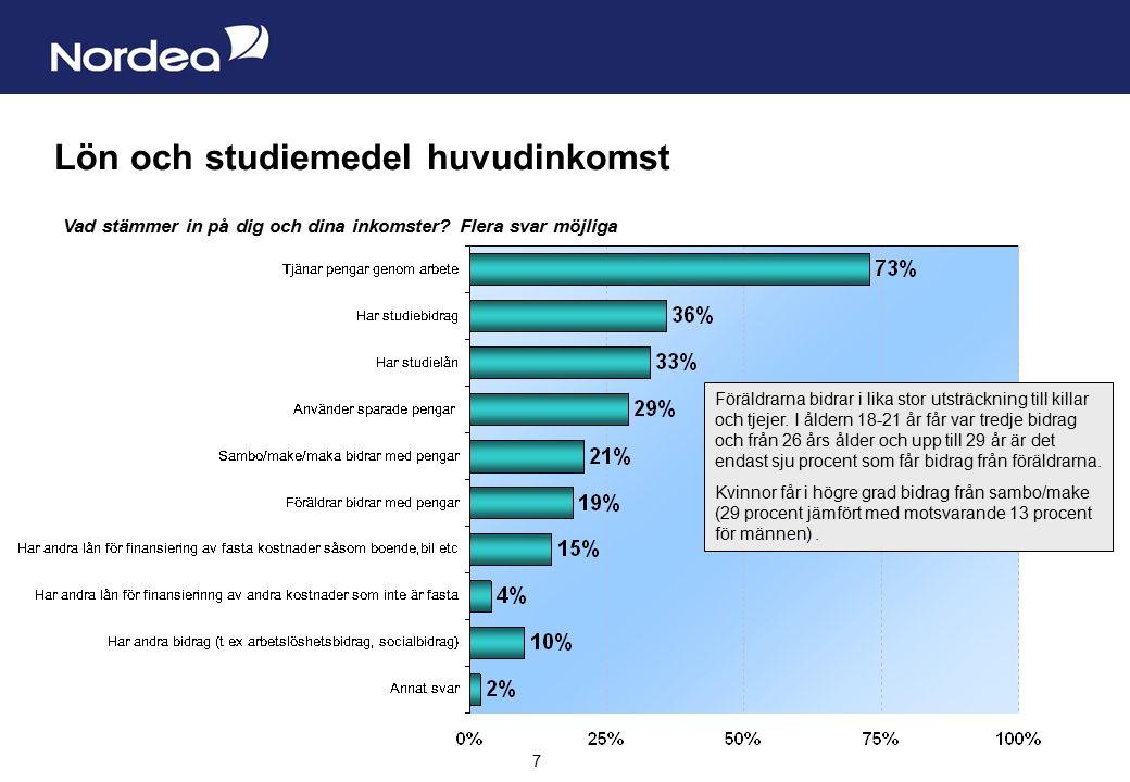 Sida 8 8 Vanligare med arbete i Danmark och studiemedel i Norge Vad stämmer in på dig och dina inkomster.