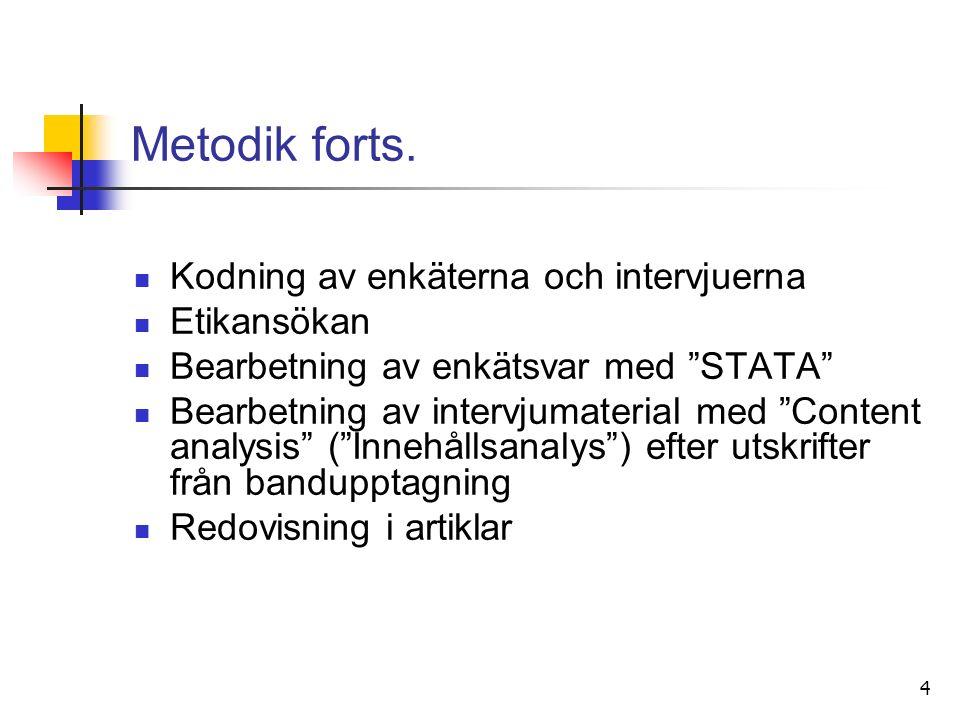 4 Metodik forts.