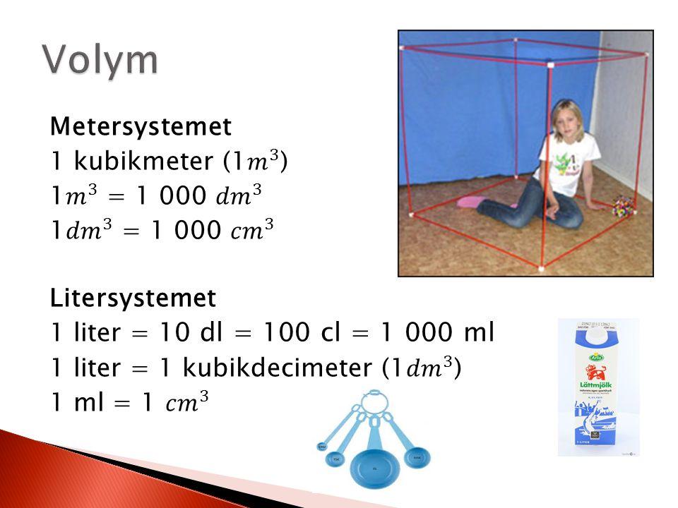 kubikmeter i liter