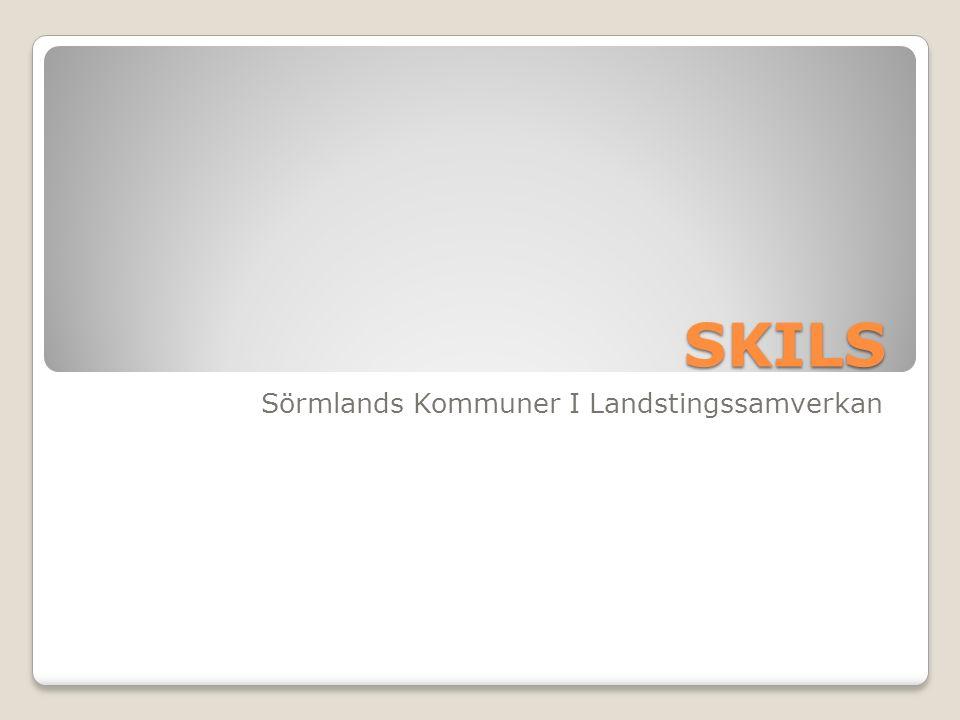 SKILS Sörmlands Kommuner I Landstingssamverkan