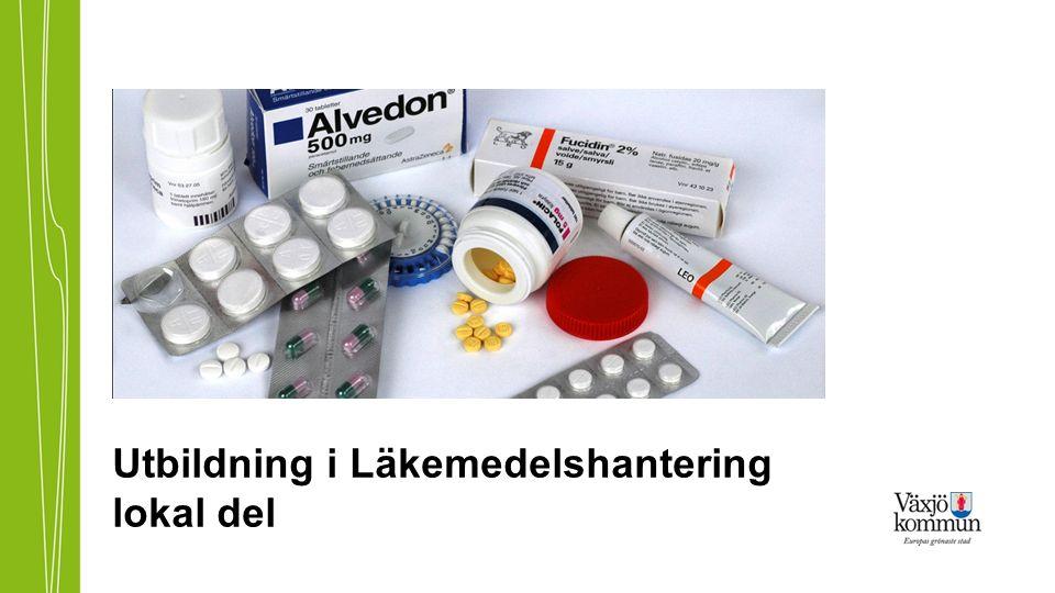 Tidsintervall Läkemedel ska alltid fördelas så jämt som möjligt över dygnet.
