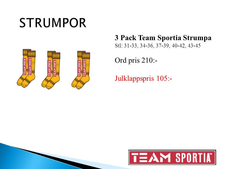 3 Pack Team Sportia Strumpa Stl: 31-33, 34-36, 37-39, 40-42, 43-45 Ord pris 210:- Julklappspris 105:-