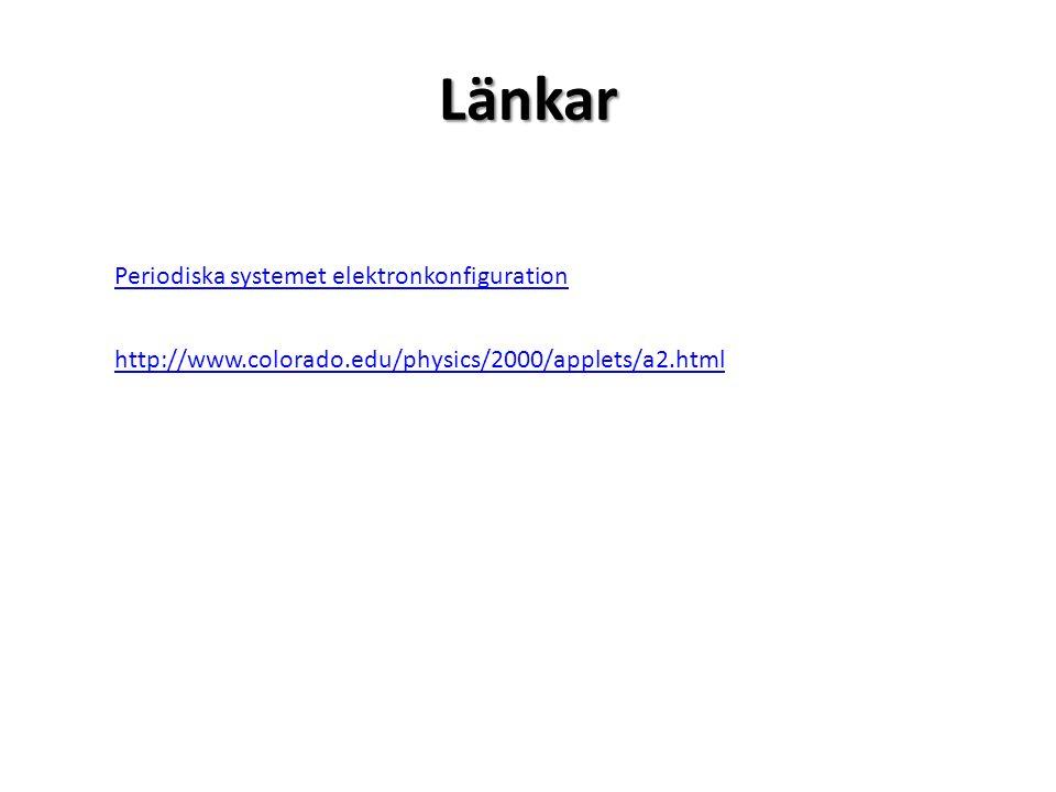 Periodiska systemet elektronkonfiguration http://www.colorado.edu/physics/2000/applets/a2.htmlLänkar