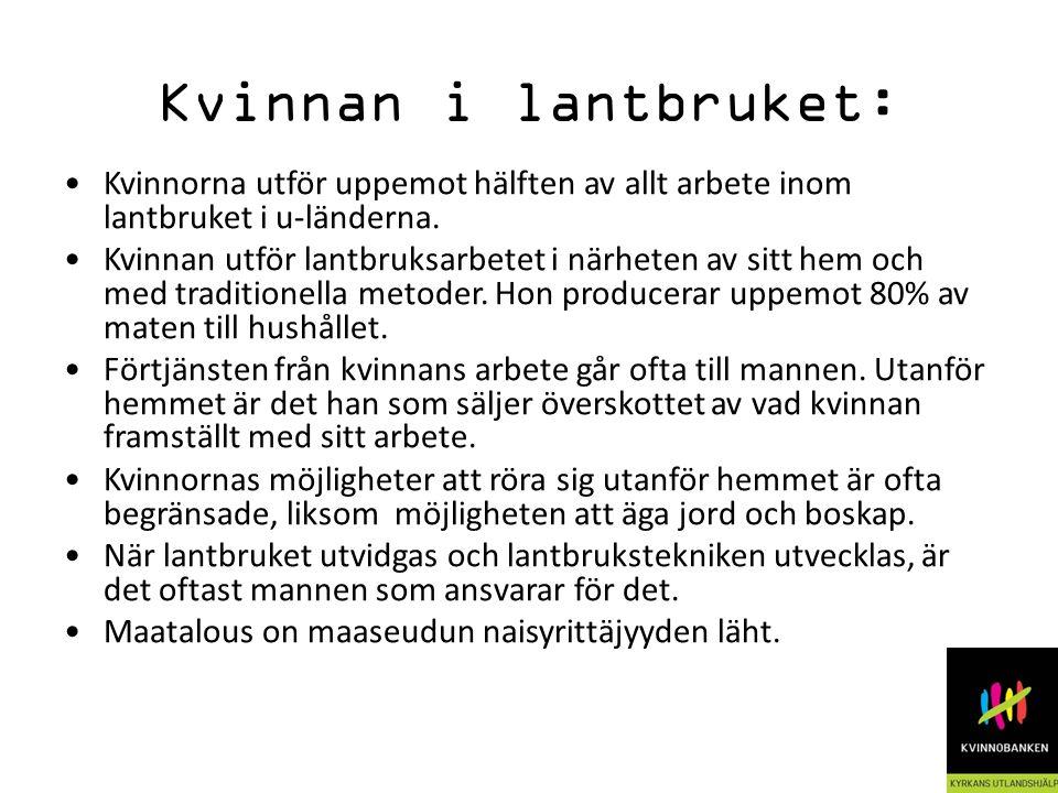 Kvinnan i arbetslivet: Kvinnorna utgör en arbetskraftreserv.