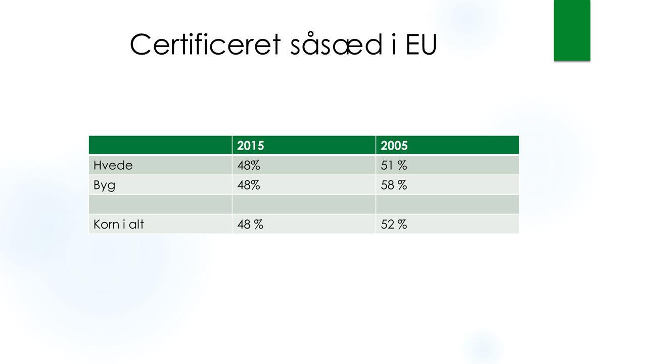 Certificeret såsæd i EU