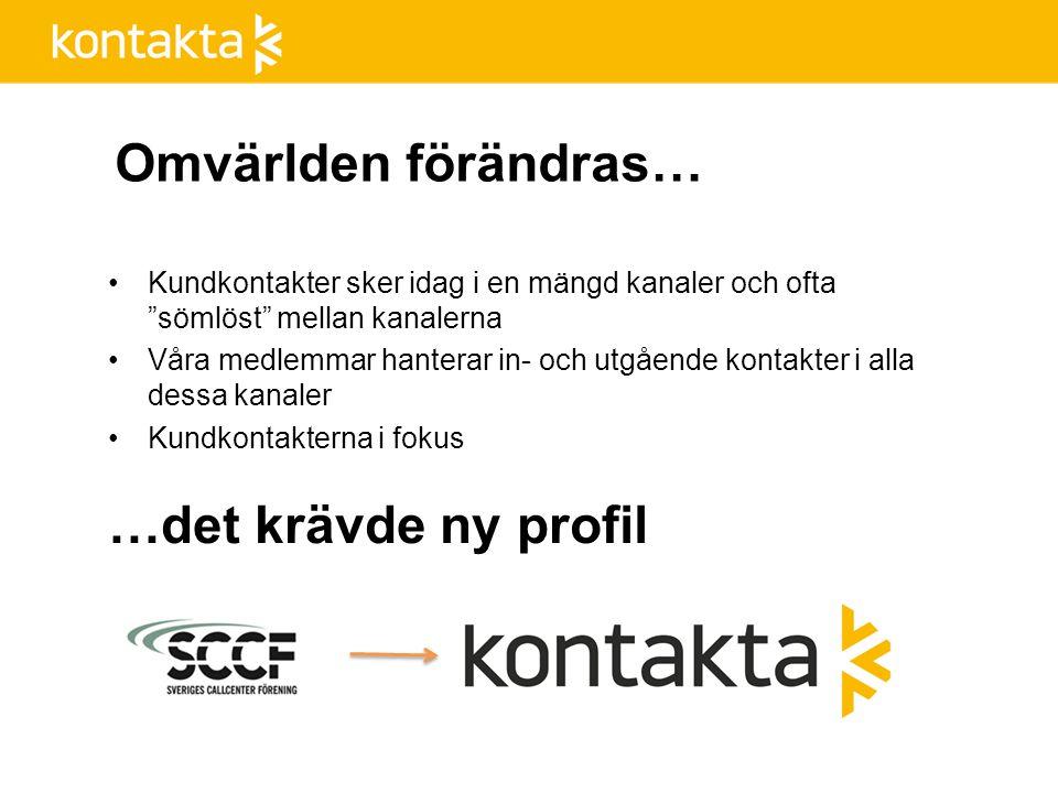 Historik Kontakta Kontakta är fortfarande en ung förening 1989 Philip Cohen startade STMF - Sveriges Telemarketing Förening.