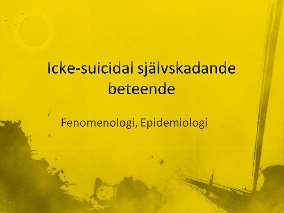Fenomenologi, Epidemiologi