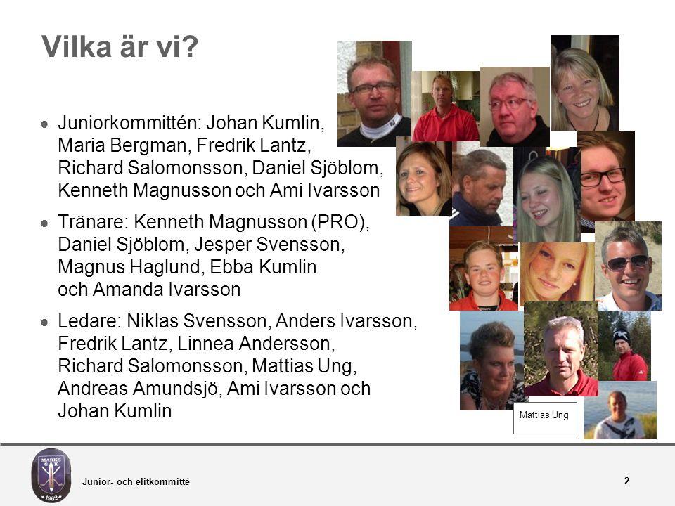 Junior- och elitkommitté 13 Träningsavgift + Medlemsformer  Träningsavgift: 550 kr (7-8 veckor höst resp.