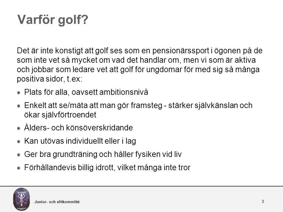 Varför golf.