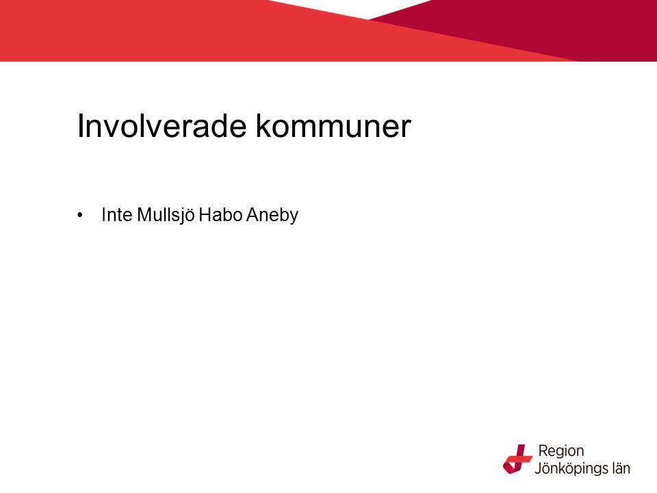 Involverade kommuner Inte Mullsjö Habo Aneby