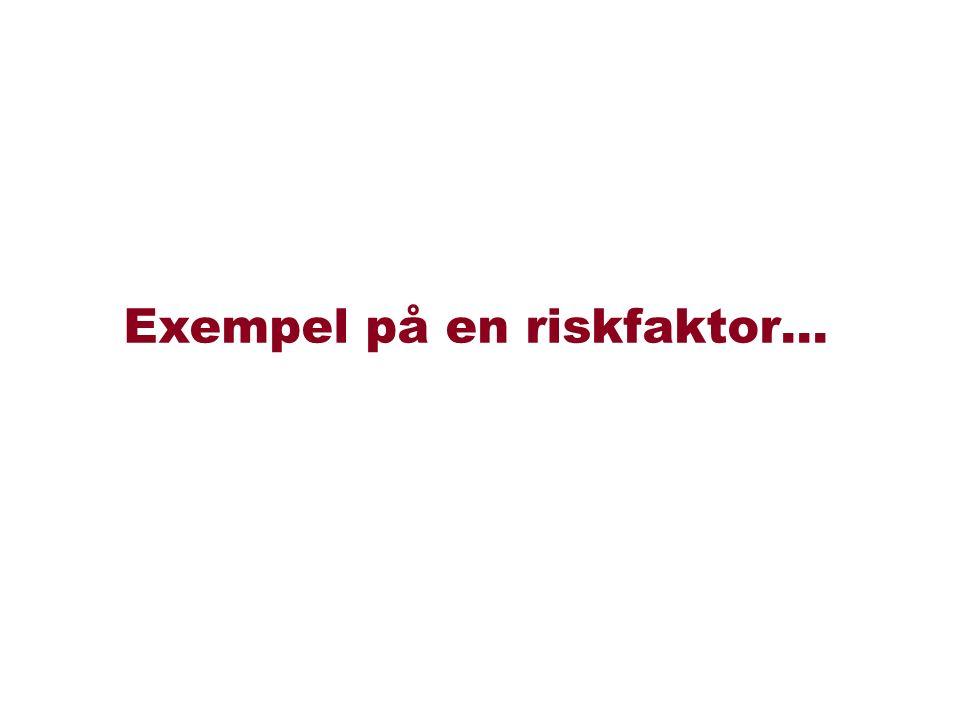 Exempel på en riskfaktor…