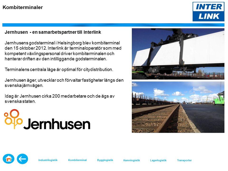 Kombiterminaler Jernhusen - en samarbetspartner till Interlink Jernhusens godsterminal i Helsingborg blev kombiterminal den 15 oktober 2012.