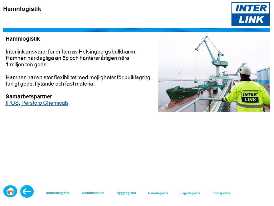 Hamnlogistik Interlink ansvarar för driften av Helsingborgs bulkhamn.